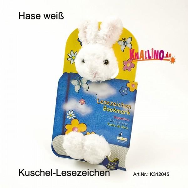 Hase weiß Kuschel-Lesezeichen