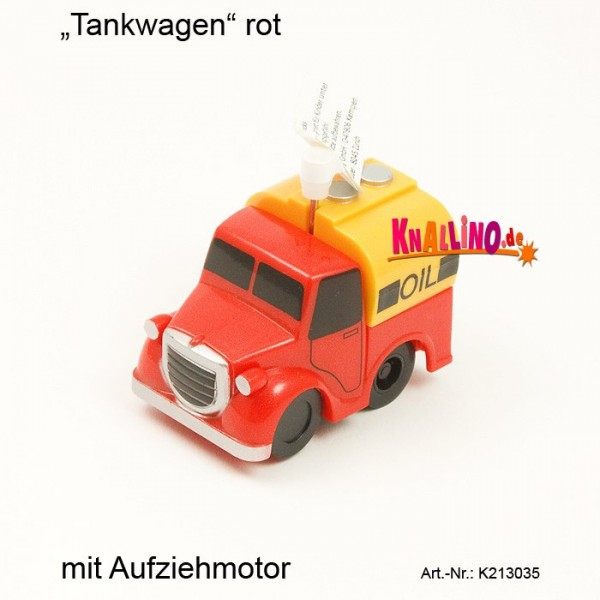 Tankwagen rot mit Aufziehmotor