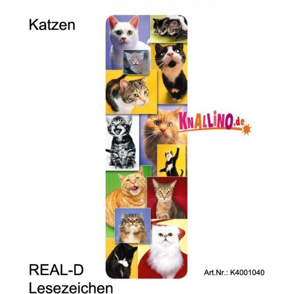 Katzen REAL-D Lesezeichen