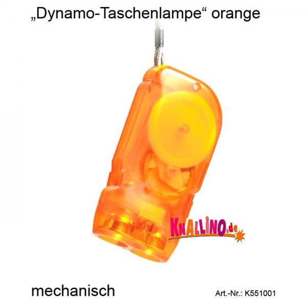 Dynamo-Taschenlampe orange