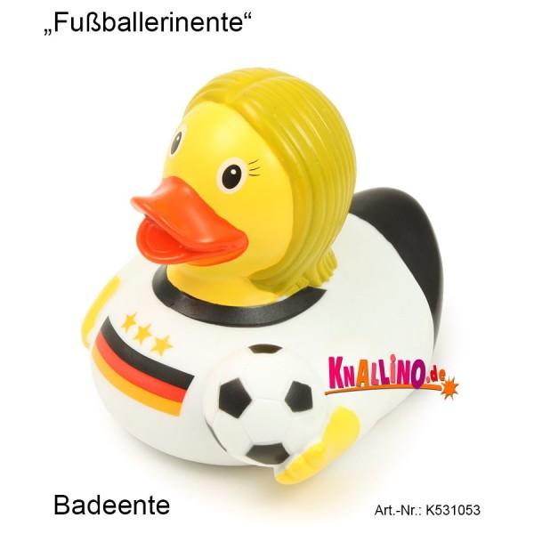 Fußballerinente Badeente