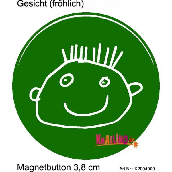 Gesicht (fröhlich) Magnetbutton 3,8 cm