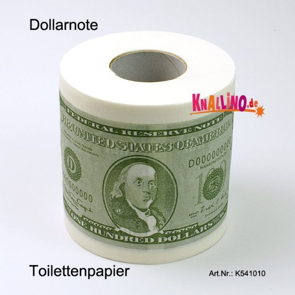 Dollarnote Toilettenpapier