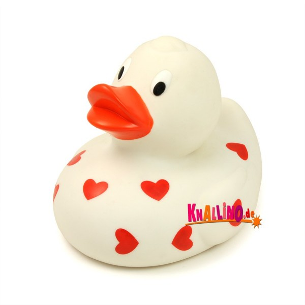 Ente mit Herzen Spardose