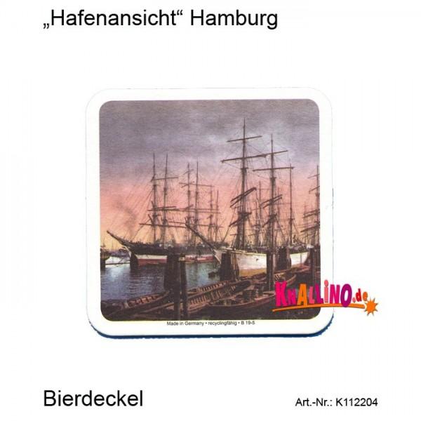 Hafenansicht Hamburg Bierdeckel