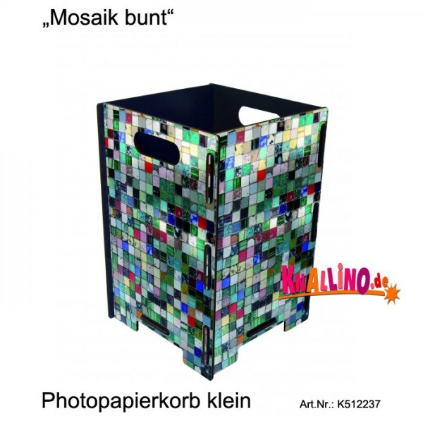 Mosaik bunt Photopapierkorb klein