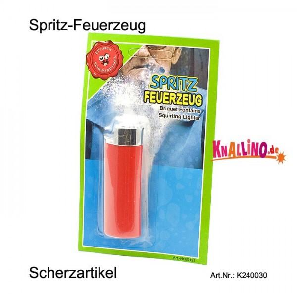 Spritz-Feuerzeug Scherzartikel