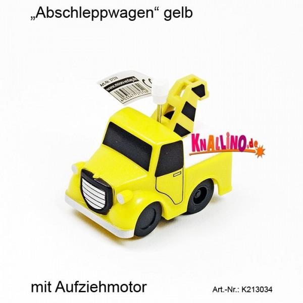 Abschleppwagen gelb mit Aufziehmotor
