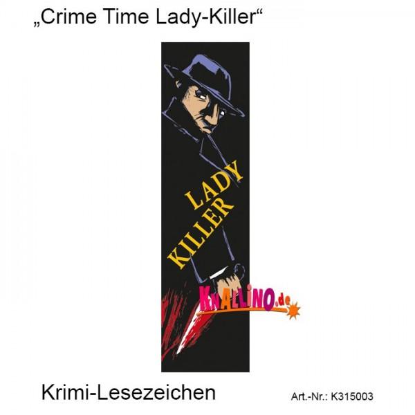 Crime Time Lady-Killer Krimi-Lesezeichen