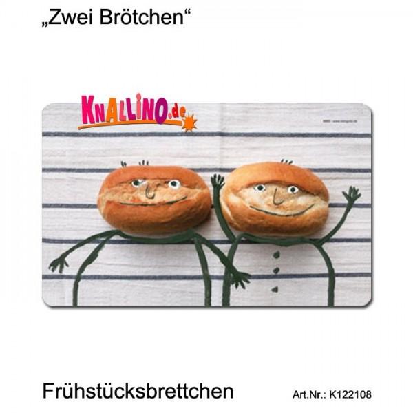 Zwei Brötchen Frühstücksbrettchen