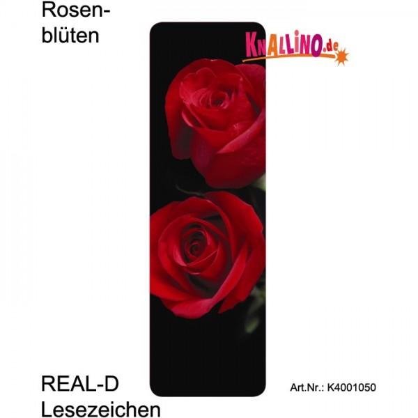 Rosenblüten REAL-D Lesezeichen