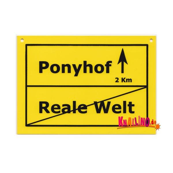 Ponyhof Türschild
