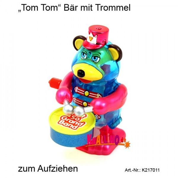 Tom Tom Bär mit Trommel Aufziehfigur