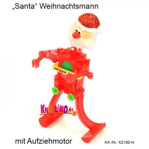 Santa Weihnachtsmann mit Aufziehmotor