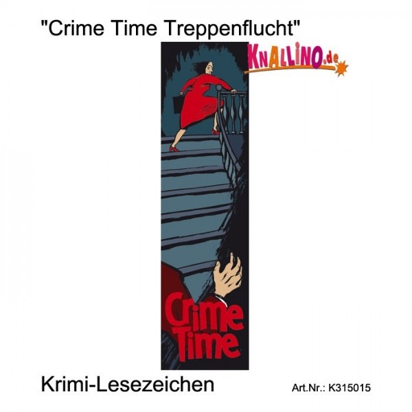 Crime Time Treppenflucht Krimi-Lesezeichen