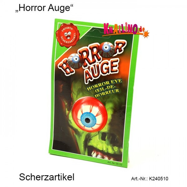 Horror Auge Scherzartikel