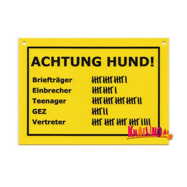 Achtung Hund Turschild Schilder Ordnung Wohnen Knallino De