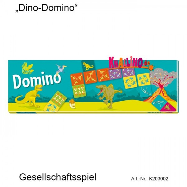 Dino Domino Gesellschaftsspiel