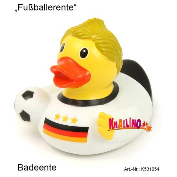 Fußballerente Badeente