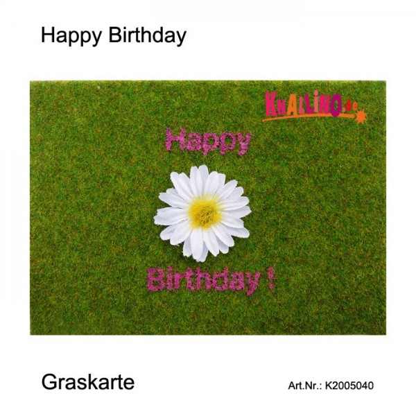 Happy Birthday Graskarte