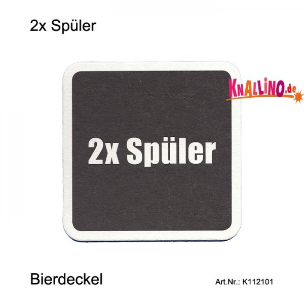 2x Spüler - Festnetztelefonierer Bierdeckel