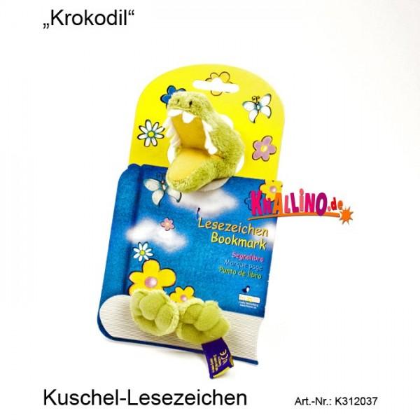 Krokodil Kuschel-Lesezeichen