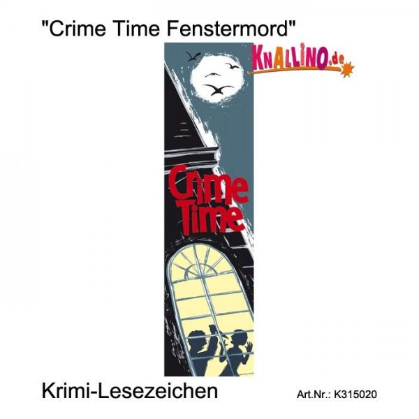 Crime Time Fenstermord Krimi-Lesezeichen