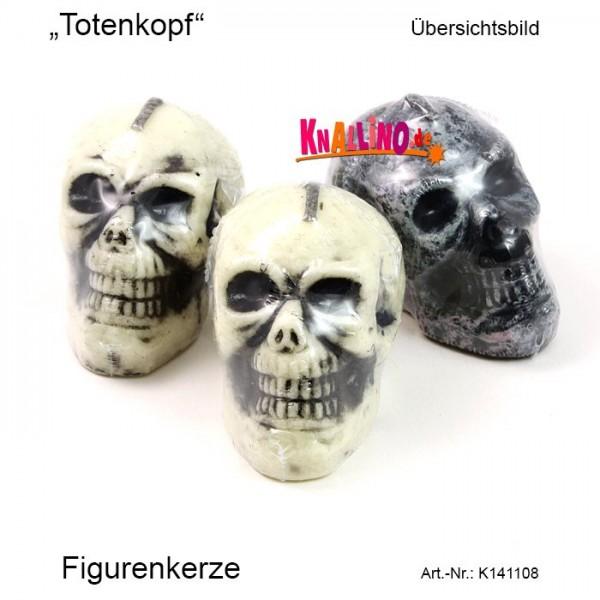 Totenkopf Figurenkerze