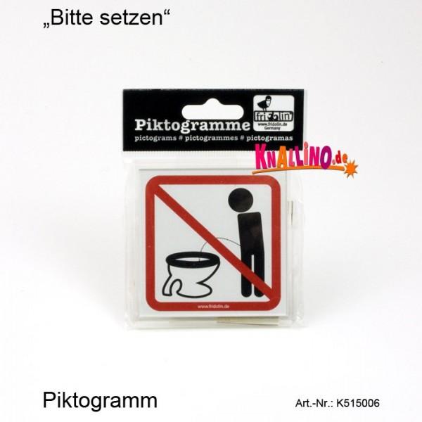 Bitte setzen Piktogramm