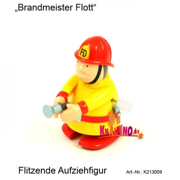 Brandmeister Flott flitzende Aufziehfigur
