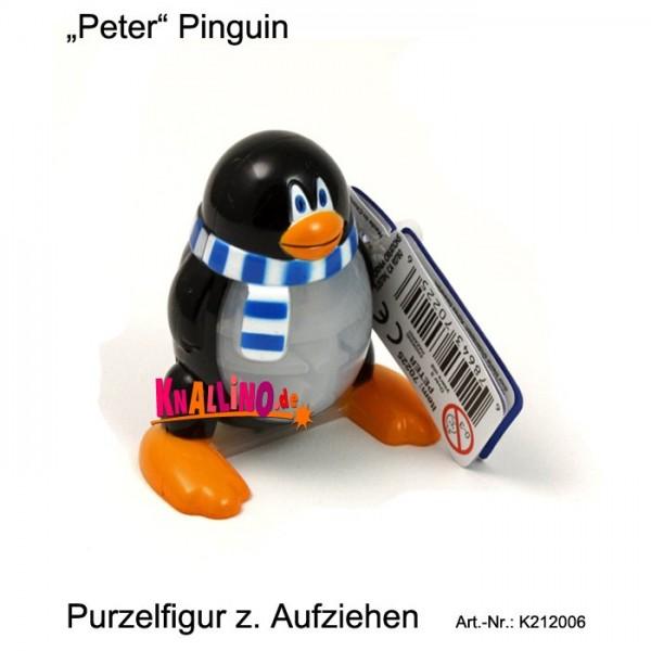 Peter Pinguin Purzelfigur zum Aufziehen
