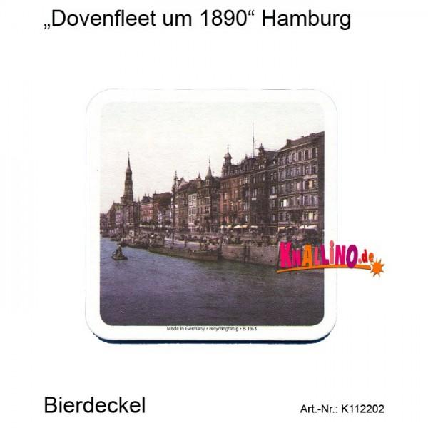 Dovenfleet um 1890 Hamburg Bierdeckel