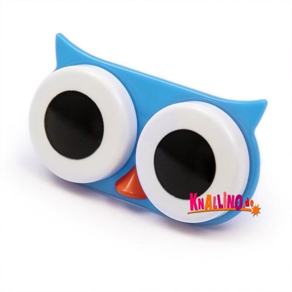 Eule blau Kontaktlinsenhülle