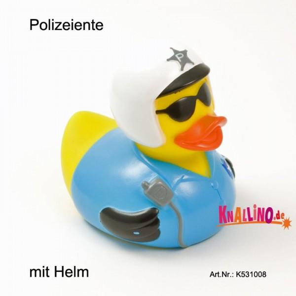 Polizeiente mit Helm
