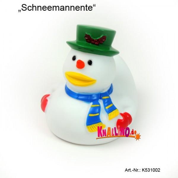 Schneemannente Badeente