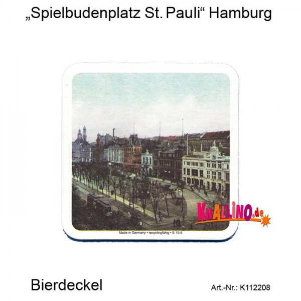 Spielbudenplatz St. Pauli Hamburg Bierdeckel