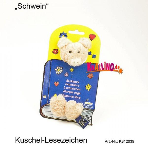 Schwein Kuschel-Lesezeichen