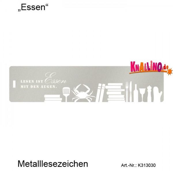 Essen... Metalllesezeichen