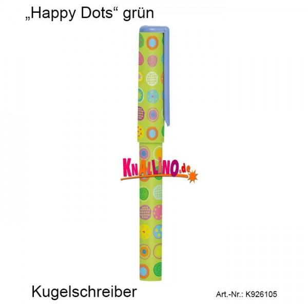 Happy Dots grün Kugelschreiber