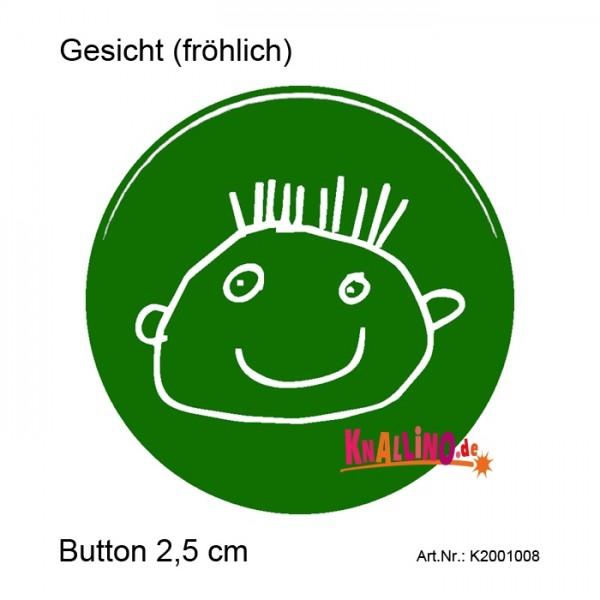 Gesicht (fröhlich) Ansteckbutton 2,5 cm