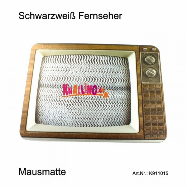 Schwarzweiß Fernseher Reflexions Mausmatte, Mousepad