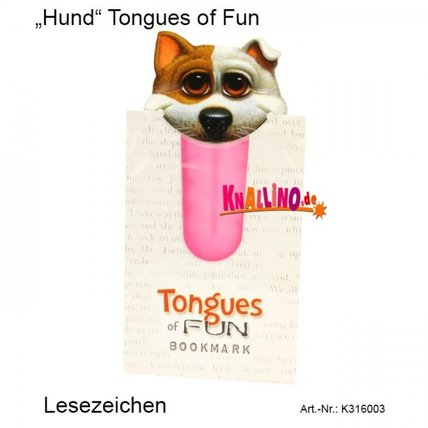 Hund Tongues of Fun Lesezeichen