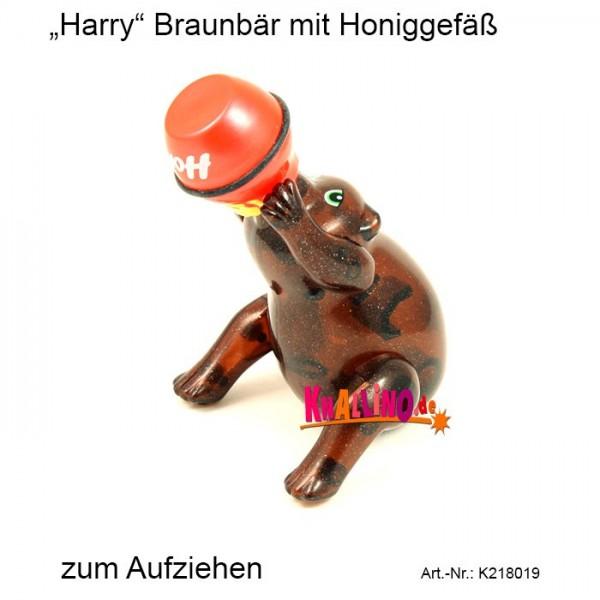 Harry Braunbär mit Honiggefäß zum Aufziehen