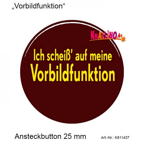 Vorbildfunktion Ansteckbutton 25 mm