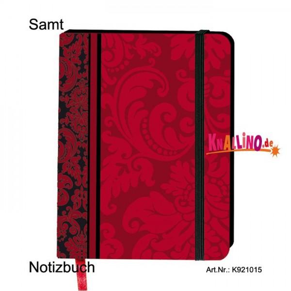 Samt Notizbuch