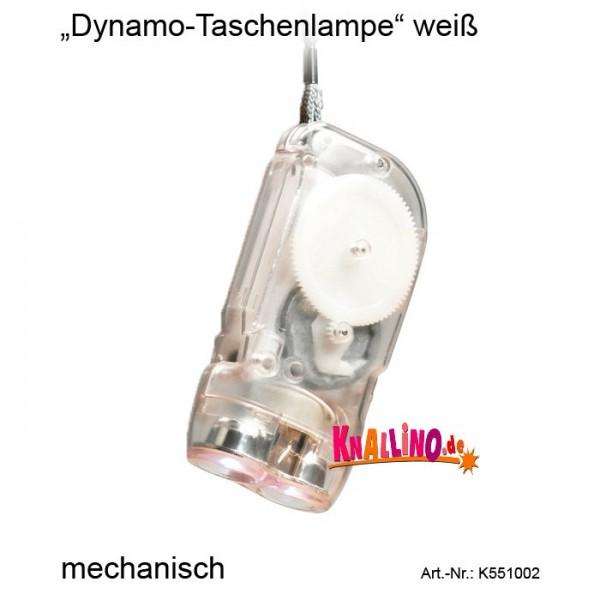 Dynamo-Taschenlampe weiß