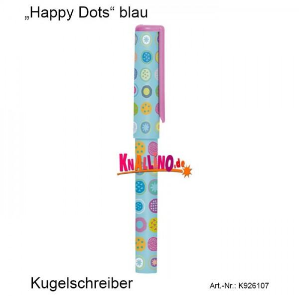 Happy Dots blau Kugelschreiber