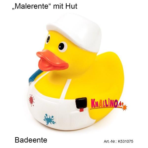 Malerente mit Hut Badeente