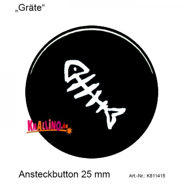 Gräte Ansteckbutton 25 mm