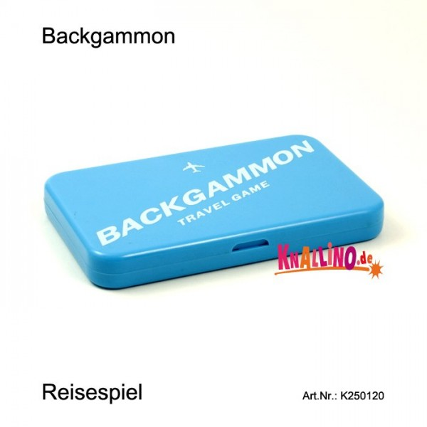 Backgammon Reisespiel im Reisepassformat